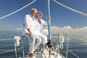 Elder Couple on Sailboat